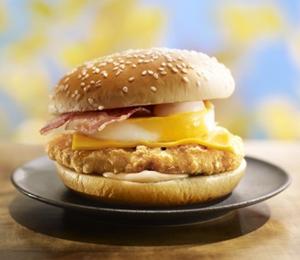 チキンチーズ月見,マクドナルド,ハンバーガー